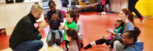 Dance and Body Emotional Atelier with Andrew Nemr and homeless migrant kids